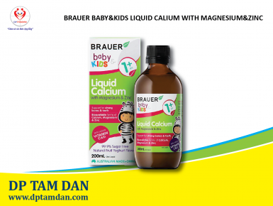 Brauer Baby & Kids Liquid Calcium with Magnesium and Zinc